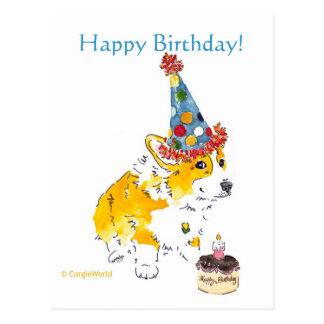 Cartão do Corgi do feliz aniversario