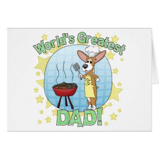 Cartão do Corgi do pai do mundo o grande