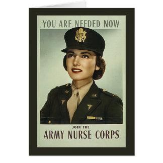 Cartão do corpo de enfermeira do vintage