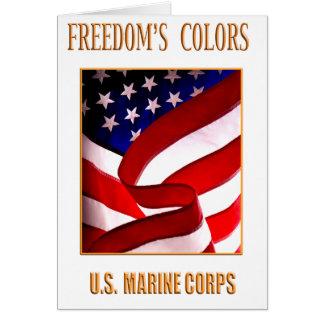 Cartão do Corpo do Marines