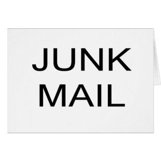 Cartão do CORREIO NÃO SOLICITADO, envelopes