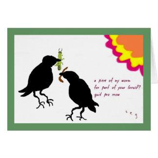 Cartão do corvo da libra pro