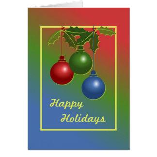 Cartão do costume boas festas
