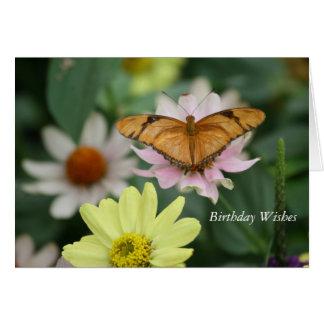 Cartão do costume da borboleta