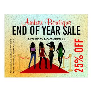Cartão do costume da promoção de venda do boutique cartão postal