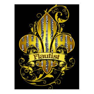 Cartão do costume de Fleur de flauta