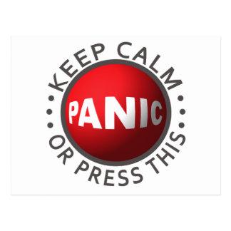 Cartão do costume do botão de pânico