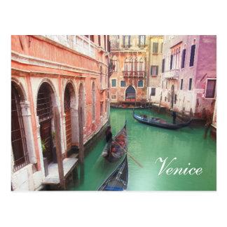Cartão do costume do canal de Veneza