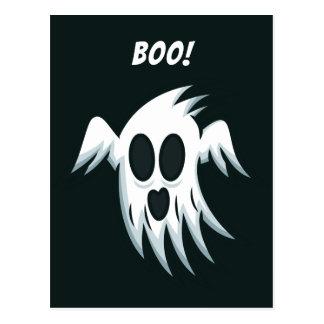 Cartão do costume do fantasma do Dia das Bruxas