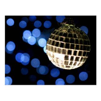 Cartão do costume do Natal do disco