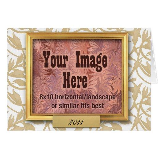 Cartão do costume do quadro do ouro