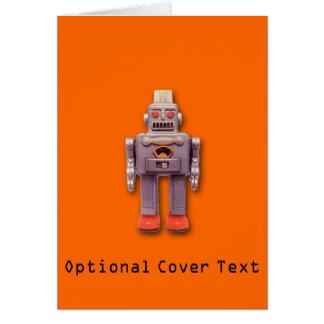 Cartão do costume do robô do brinquedo