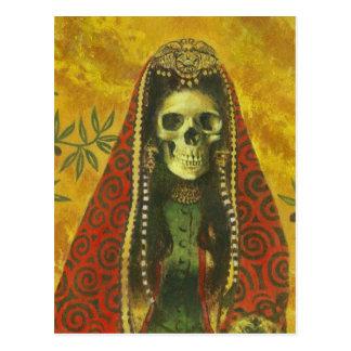 Cartão do crânio da bruxa da morte
