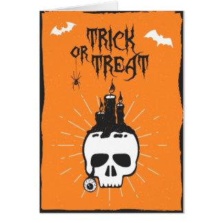 Cartão do crânio do Dia das Bruxas