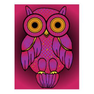 Cartão do crepúsculo da coruja de My$t