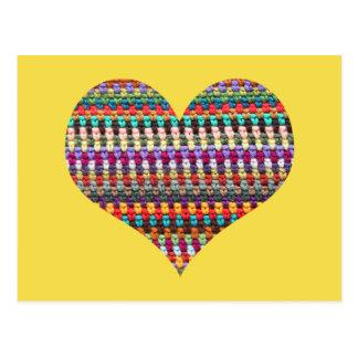 Cartão do Crochet - cartão do coração do Crochet