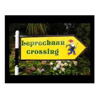 Cartão do cruzamento do Leprechaun