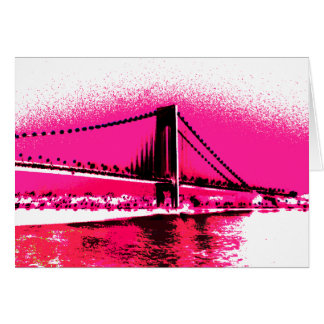 Cartão do cruzamento do rosa quente