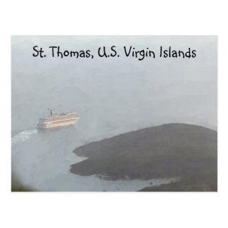 Cartão do cruzeiro de St Thomas