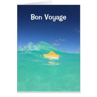 Cartão do cruzeiro do bon voyage