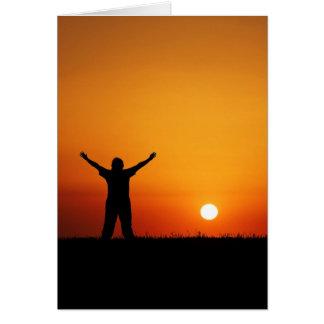 Cartão do culto do por do sol