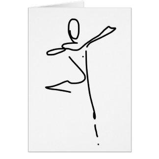 Cartão do cumprimento/aniversário da dança