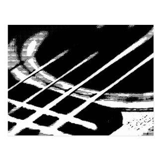 Cartão do cumprimento da guitarra