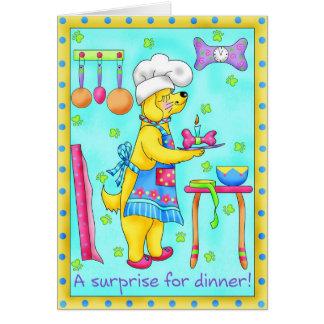 Cartão do cumprimento & de nota do cozinheiro