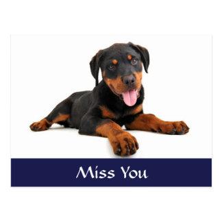 Cartão do cumprimento do cão de filhote de