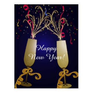 Cartão do cumprimento do feliz ano novo cartão postal