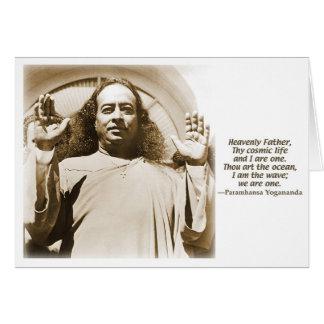 Cartão do cumprimento/nota. Afirmação por Yoganand