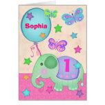 Cartão do cupcake do aniversário do bebé feito sob