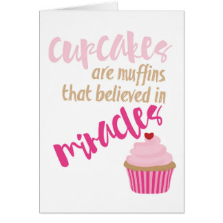 Cartão do cupcake - vazio para dentro