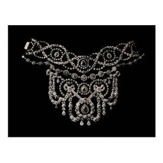 Cartão do ~ da colar da jóia de Cartierr