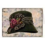 Cartão do ~ da elegância do chapéu