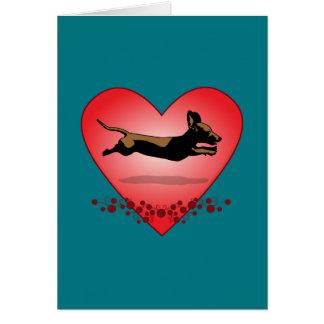 Cartão do Dachshund