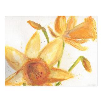 Cartão do Daffodil da aguarela Cartão Postal