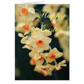 Cartão do Daffodil da páscoa