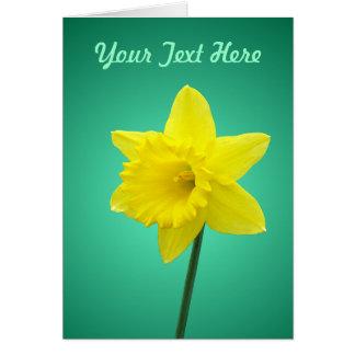 Cartão do Daffodil - modelo II