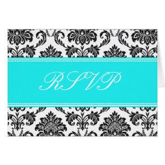 Cartão do damasco RSVP