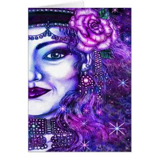 Cartão do dançarino da estrela