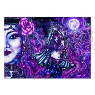 Cartão do dançarino da lua