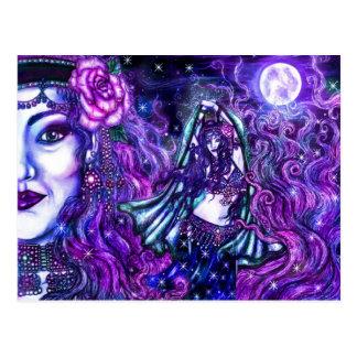 Cartão do dançarino da lua cartão postal