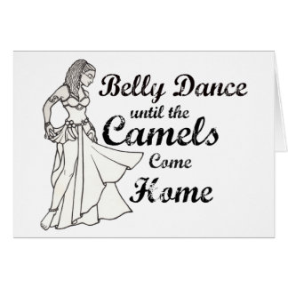 Cartão do dançarino de barriga