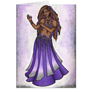 Cartão do dançarino de barriga de Hazine