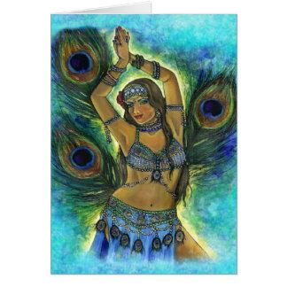 Cartão do dançarino do pavão