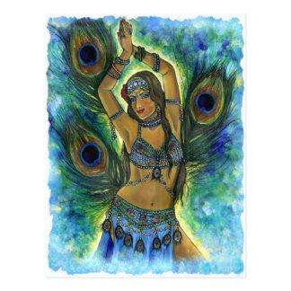 Cartão do dançarino do pavão cartão postal