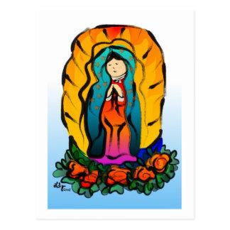 Cartão do de Guadalupe do Virgin do La
