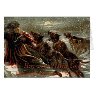 Cartão do débito do Natal