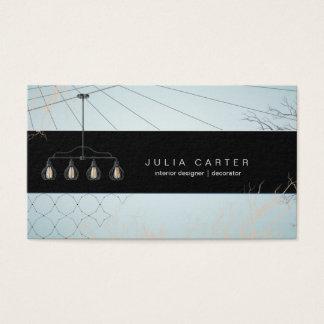 Cartão do decorador da casa do planejador do